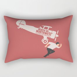 North by northwest, Alfred Hitchcock minimalist movie poster, thriller, Cary Grant, Eva Marie Saint Rectangular Pillow