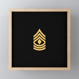 1st Sergeant (Gold) Framed Mini Art Print