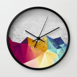Polygons on Concrete Wall Clock