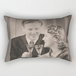 Vintage Tête-à-Tête Rectangular Pillow