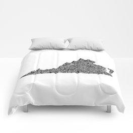 Typographic Virginia Comforters