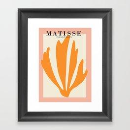 Henri matisse the cut outs contemporary, modern minimal art Framed Art Print