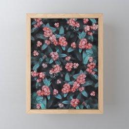 Tiny Red Flowers Framed Mini Art Print