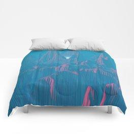 Neon Waterfalls Comforters