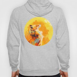 Blissful Light - Fox portrait Hoody