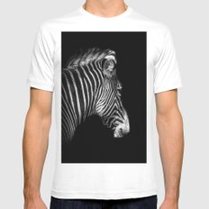 White Stripes Black Stripes Mens Fitted Tee MEDIUM White