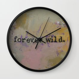 Forever Wild Wall Clock