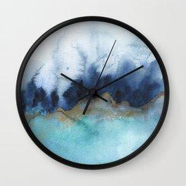 Mystic abstract watercolor Wall Clock