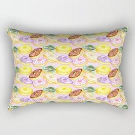 Pastel Donut Print Rectangular Pillow