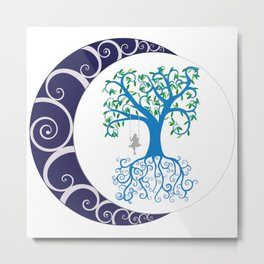 Chaos Tree Metal Print