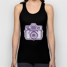 I Still Shoot Film Holga Logo - Reversed Deep Purple Unisex Tank Top