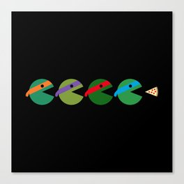 Pac-Turtles Canvas Print