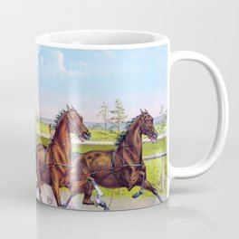 Louis Maurer -Trotting for a great stake - Digital Remastered Edition Coffee Mug
