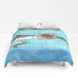 The Shark and the Mermaid Comforters