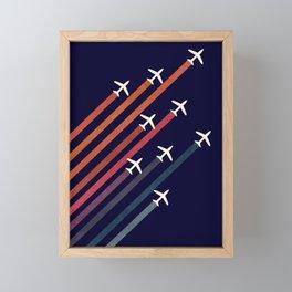 Aerial acrobat Framed Mini Art Print