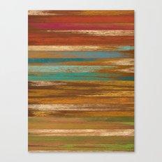wood panel multicolor Canvas Print