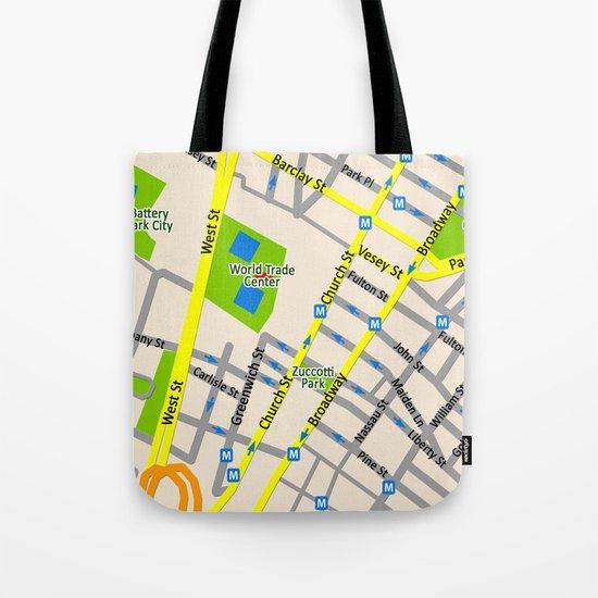 NEW YORK map design Tote Bag