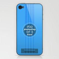 Stop pretending art is hard (blue) iPhone & iPod Skin