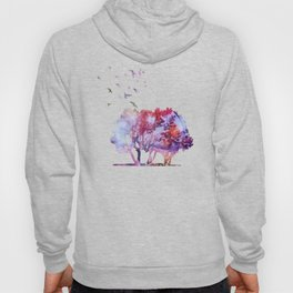 Waterfall in colorful autumn forest Hoody