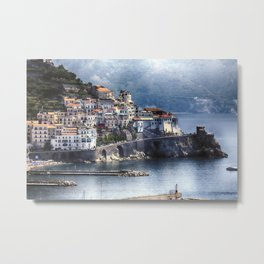 Amalfi Town from Afar Metal Print
