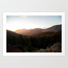 Rocky Mountain Sunrise Art Print