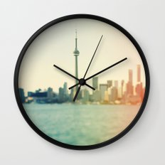 Shades Of The City Wall Clock
