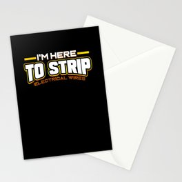 Electrician Electricity Here To Strip Electrical Stationery Cards