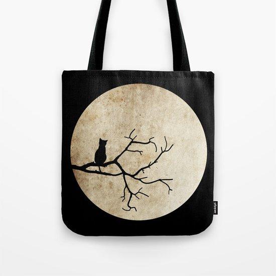 Cat Night Tote Bag