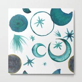 Moon Cycles Metal Print