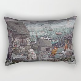 Home for the Harbor Rectangular Pillow