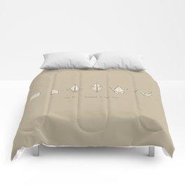 Evolution of Paper Crane Comforters