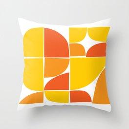 Retro Geometric Design Throw Pillow