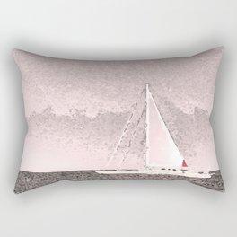 """Sailboat #8"" Art of the Sea by Murray Bolesta Rectangular Pillow"