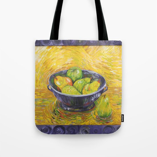 Still Life With Pears and Apples Tote Bag
