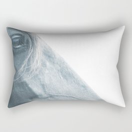 Horse head - fine art print n° 2, nature love, animal lovers, wall decoration, interior design, home Rectangular Pillow