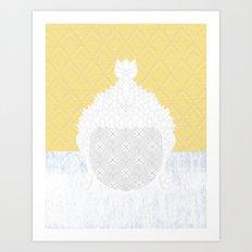 yllwpttrnbddh Art Print