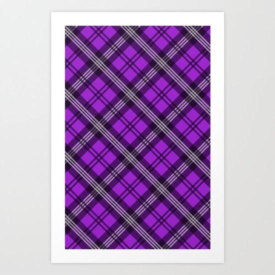 Scottish Plaid (Tartan) - Purple Art Print
