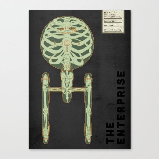 Spaceship Skeletal Survey: The Enterprise Canvas Print