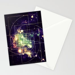 Galaxy Sacred Geometry: Golden mean Stationery Cards