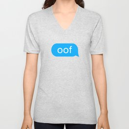OOF Funny Meme for Kid Gamers when they Die Unisex V-Neck