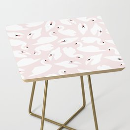 Swan Pattern on Pink 030 Side Table