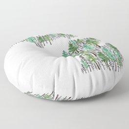 Michigan Forest Floor Pillow