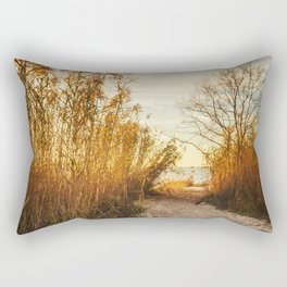 Follow the Beach Path Rectangular Pillow