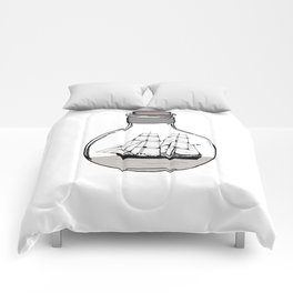 Ship in the Glass Bulb for Home Decor and Apparel Comforters