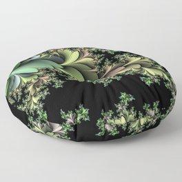Kale Leaves Fractal Floor Pillow