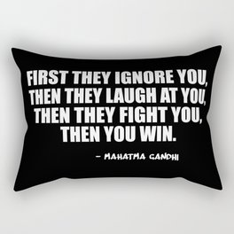 first they ignore Rectangular Pillow