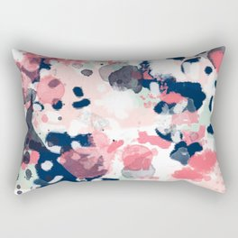 Hayes - abstract painting minimal trendy colors nursery baby decor office art Rectangular Pillow