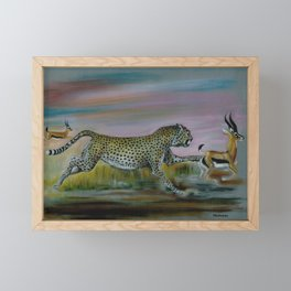 Cheetah / Fast And Furious by Peter Melonas Framed Mini Art Print