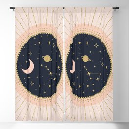 Love in Space Blackout Curtain