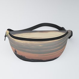 Painted sky over ten pound island light Fanny Pack